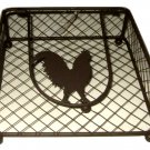 Tuscan Rooster Metal Napkin Holder