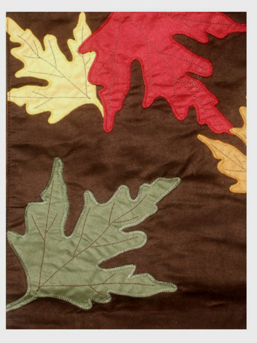 Sonoma Brown Autumn Leaves Table Runner