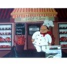 Fat Italian Chef Baker Kitchen Rug Comfort Mat