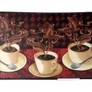 Coffee Cups Memory Foam Kitchen Rug