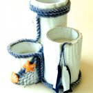 Nautical Beach Themed Candle Holders Coastal Decor