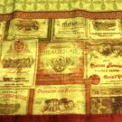 Tuscan Wine Labels Kitchen Curtains Valance Merlot