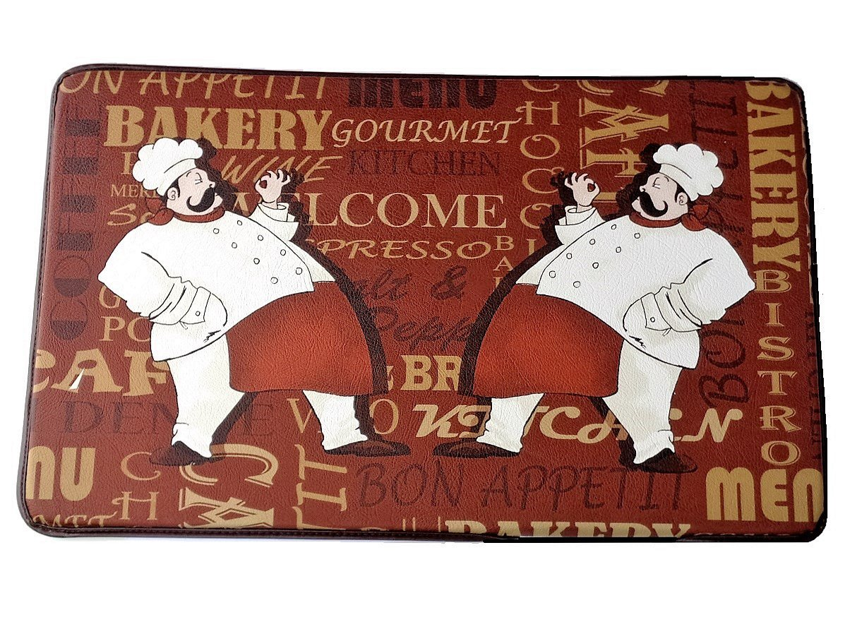 Fat Italian Chefs Memory Foam Kitchen Rug