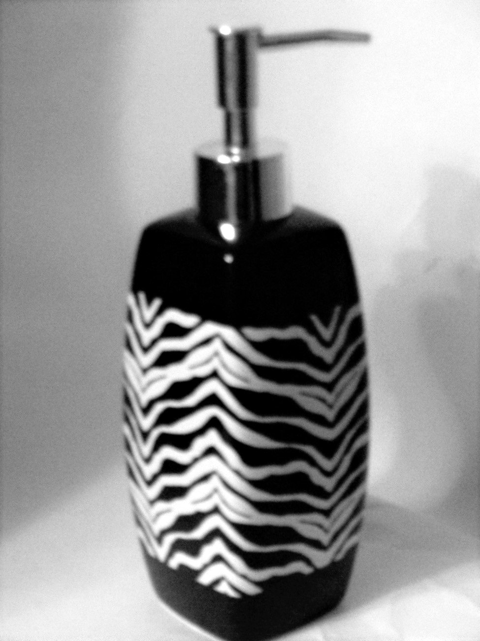 Zebra Stripe Lotion Pump Soap Dispenser Popular Bath