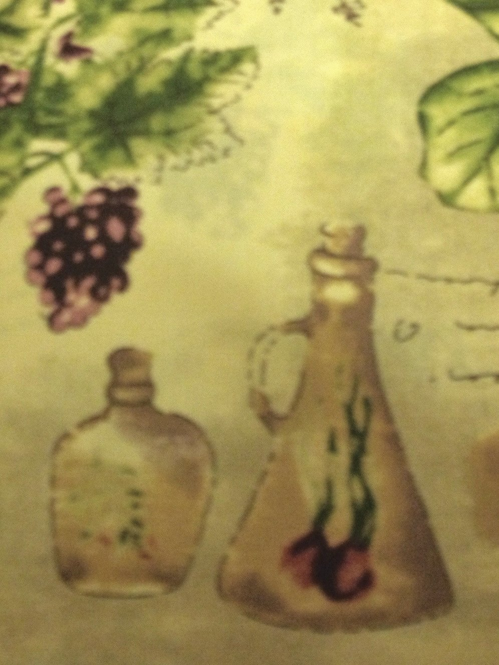 Sorrento Tuscan Grapes Olives Round Tablecloth