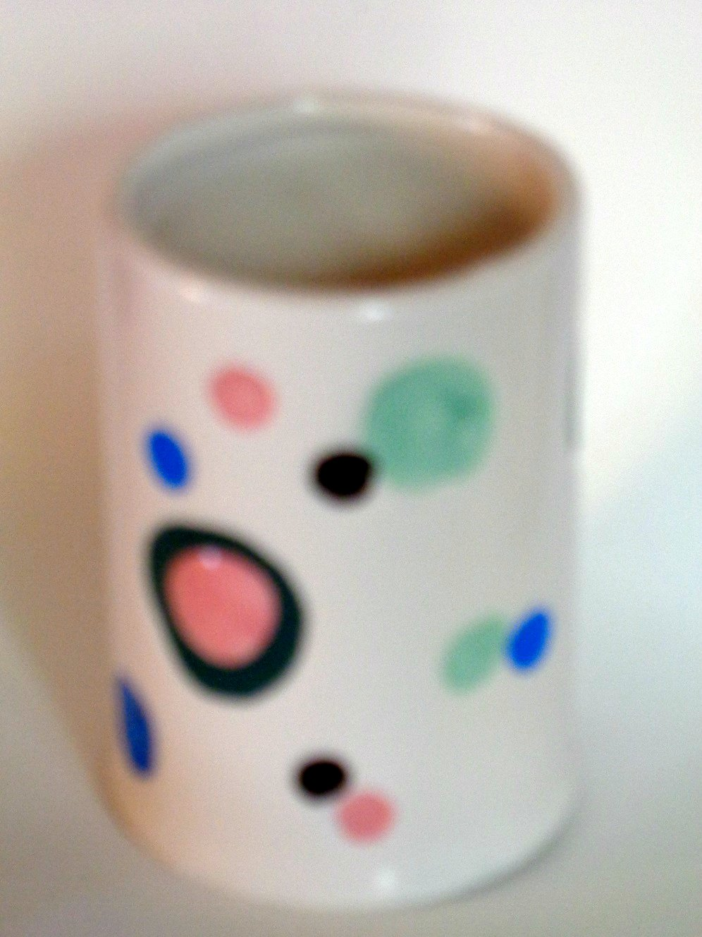 Dots Circles Ceramic Bathroom Tumbler Popular Bath