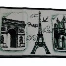 Paris Eiffel Tower French Carved Bath Mat