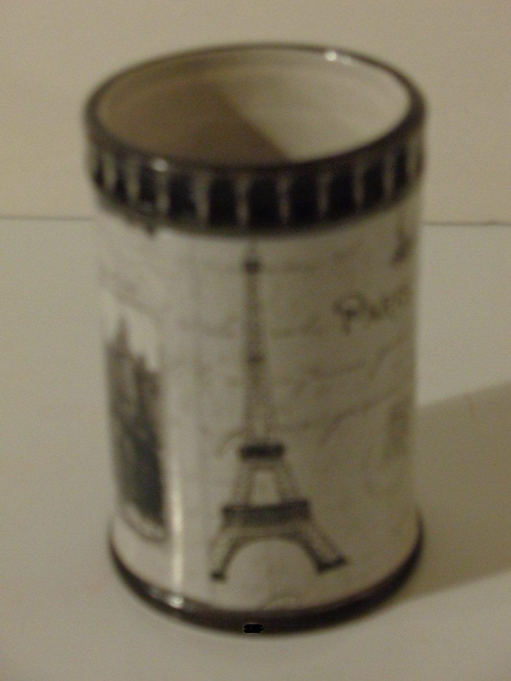 Paris Eiffel Tower Bathroom Tumbler French Bath Decor