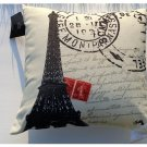 Eiffel Tower Paris Decorative Couch Pillow