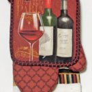 Wine Bottles Kitchen Linens Set Towels Pot Holders Oven Mitt Dishcloths