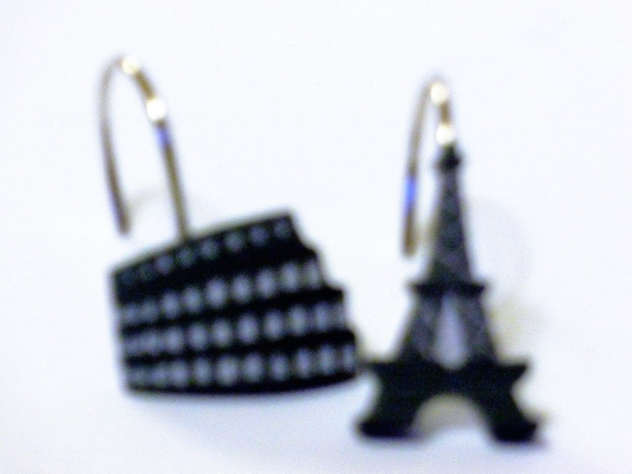 Paris Eiffel Tower Shower Curtain Hooks