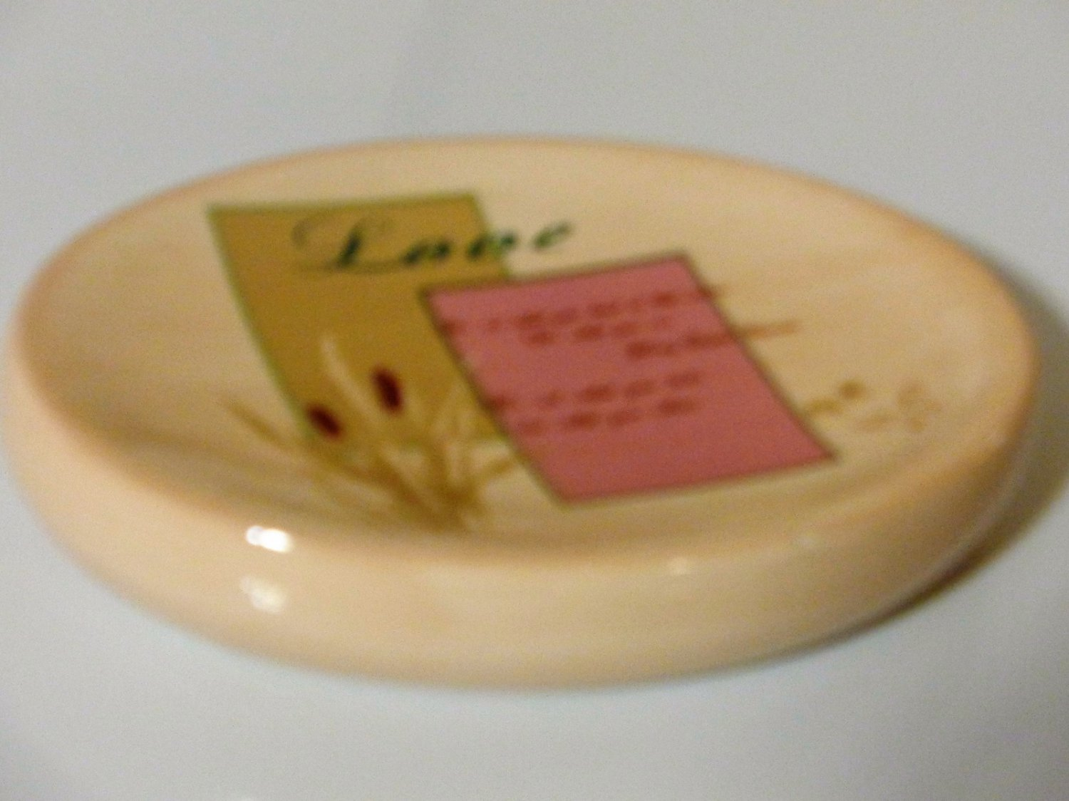 Floral Inspirational Love Soap Dish Popular Bath