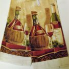 Tuscan Wine Grapes Kitchen Towels Set