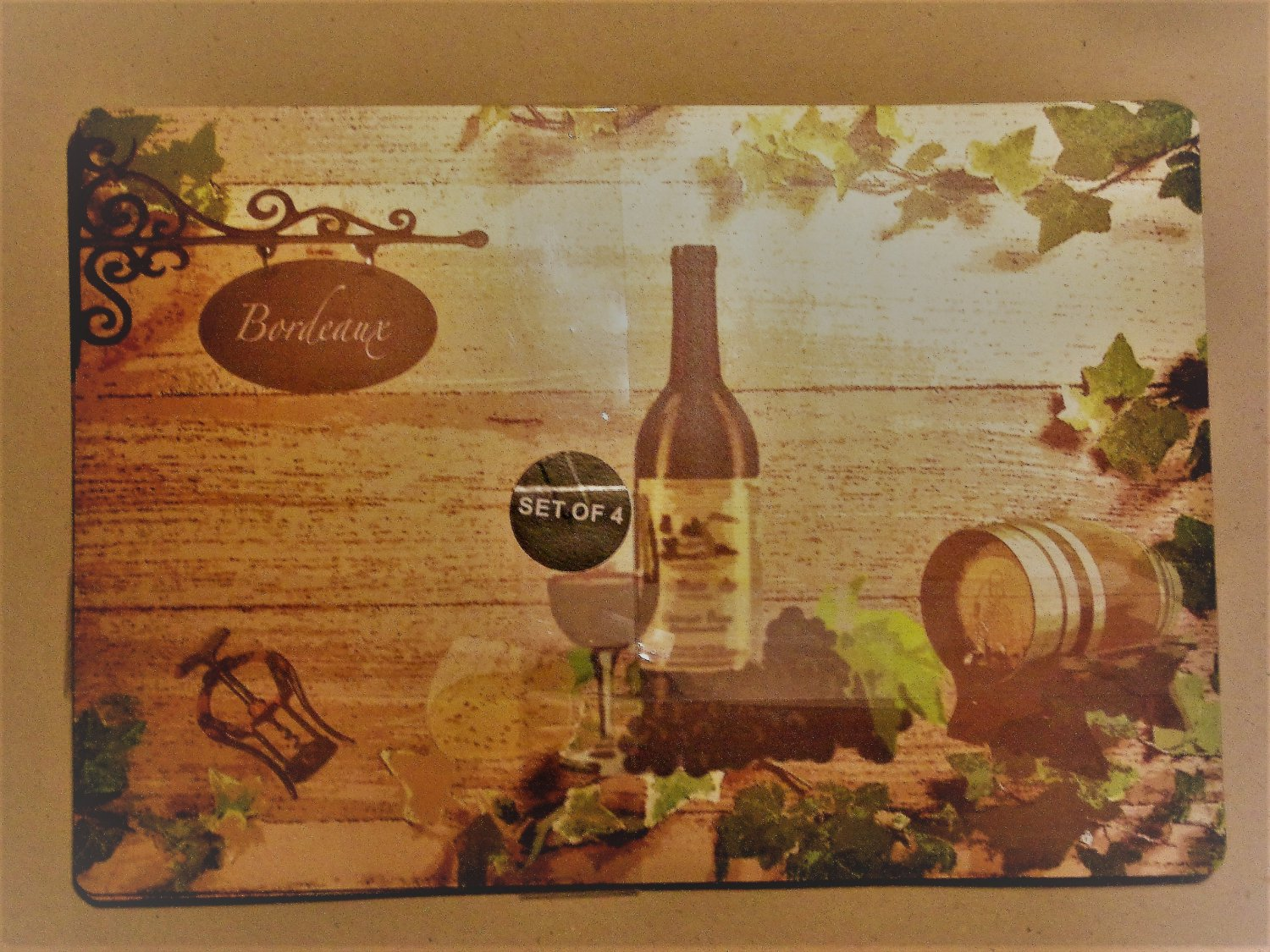 Bordeaux Wine Grapes Placemats Set A La Carte