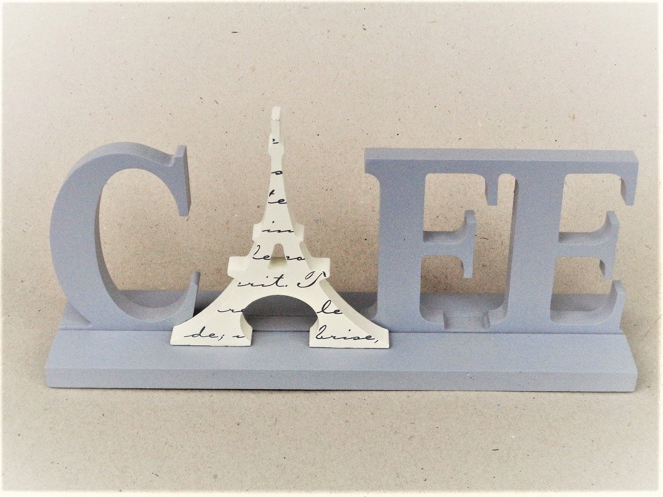 French Café Sign Eiffel Tower