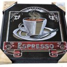 Espresso Coffee Mirrored Wall Art