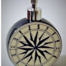 Nautical Ship Compass Lotion Pump Soap Dispenser Beach Bath Décor