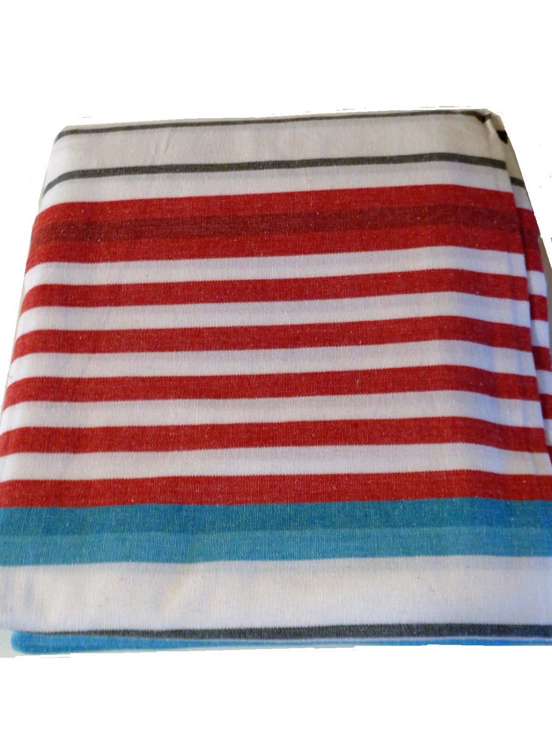 Nautical Beacon Stripes Fabric Shower Curtain Beach Decor