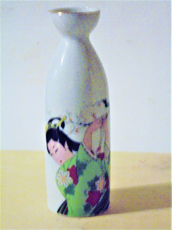 Asian Beauty Porcelain Saki Bottle