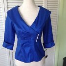 NEW Collection By Lourea Blue Shirt/Jacket (Size Petite Small) - MSRP $168.00!
