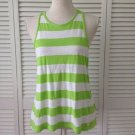 New Hollister Summer Green And White Striped Cotton Soft Tank Size Medium