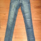 NEW BLANK-NYC Woman's Stone Distressed Washed Jeans (Size 4) - Straight Low Rise