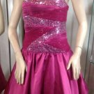 NEW C. W. DESIGN Short Pink Sequined Special Occassion/Party Dress (Size L)