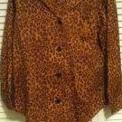 NEW Lauren Ralph Lauren Women's Sleep Set Leopard Print w/Logo Pocket (Size M)