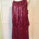 NEW Issue New York 100% Silk Sequin Dress in Wine (Size Medium) - MSRP $325.00!