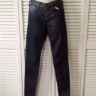 NEW ADRIANO GOLDSCHMIED The Absolute Legging Blue Metallic Coated Jeans- Size 25