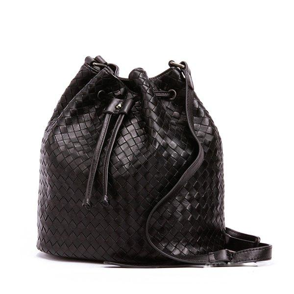 Wafa Sheepskin Leather Cross Body Bag LH981 Black