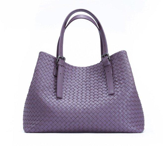 Nelly Sheepskin Leather Bag LH854 Purple