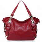 Bieber Cowhide Leather Bag LH260 Red