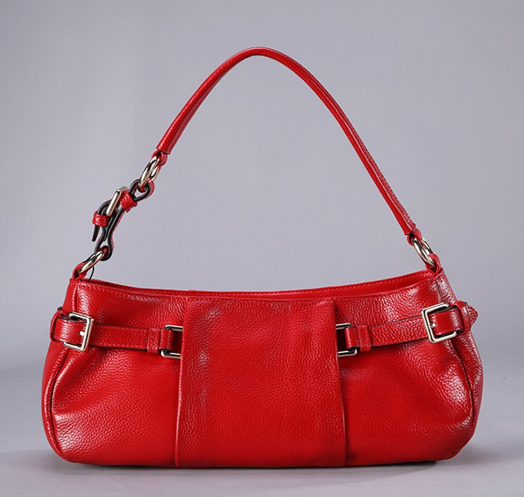 Schefft Cowhide Leather Tote LH823 Red