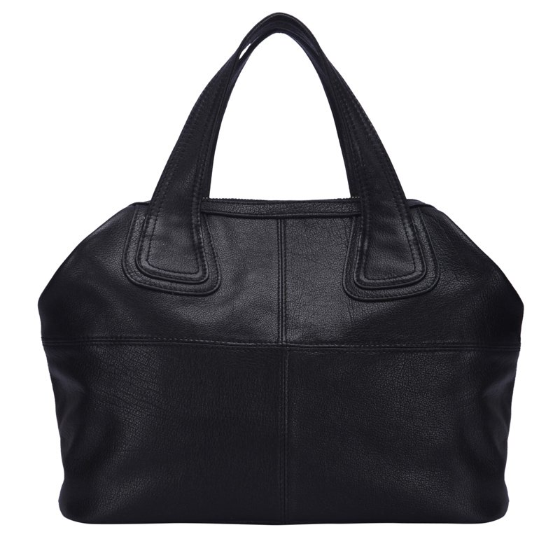 Evelyn  Italian Cowhide Leather Tote LH1194 Black