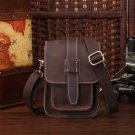 Claire Distressed Cow Leather Dark Brown Waist Bag LH1179