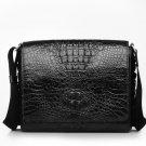 Black Crocodile Mens Leather Messenger Bag LH1131