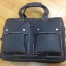Scarlett Distressed Cow Leather Dark Brown Mens Leather Messenger  Bag LH1069