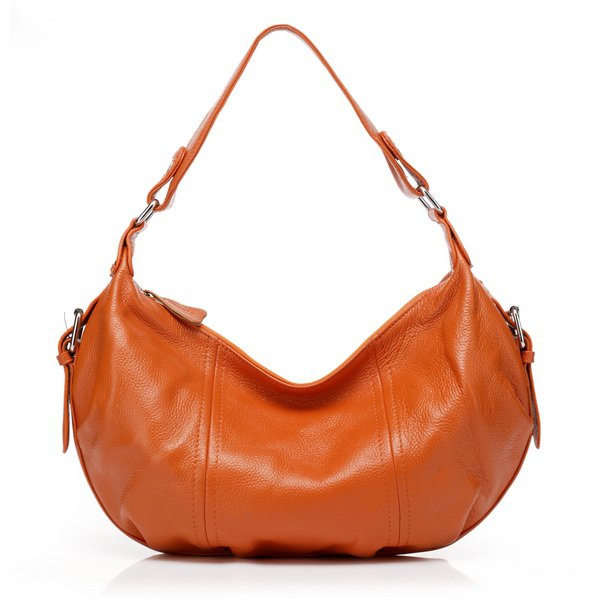 Alexis Orange Cowhide Leather Hobo LH801