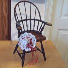 Doll furniture 16&quot; Windsor chair authentic replica of the 1800&#39;s