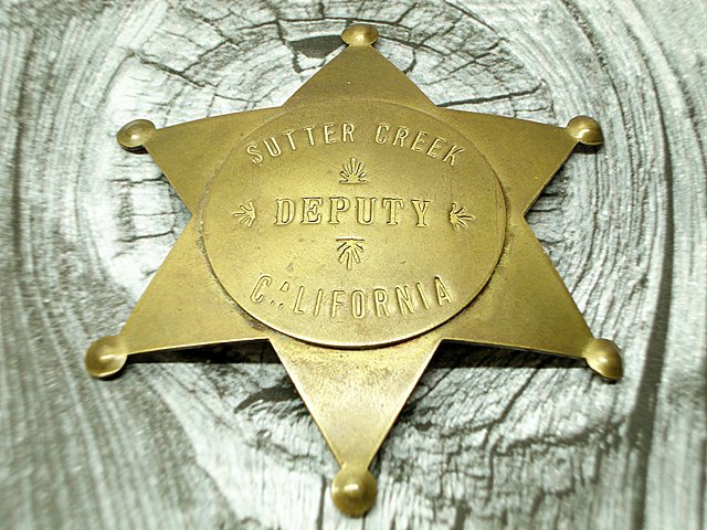Fox Stamp Fantasy Badge Sutter Creek California Deputy at ITSMYGARAGESALES