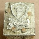 Old, The Mark Of Quality Block Ink Stamp Wood & Metal