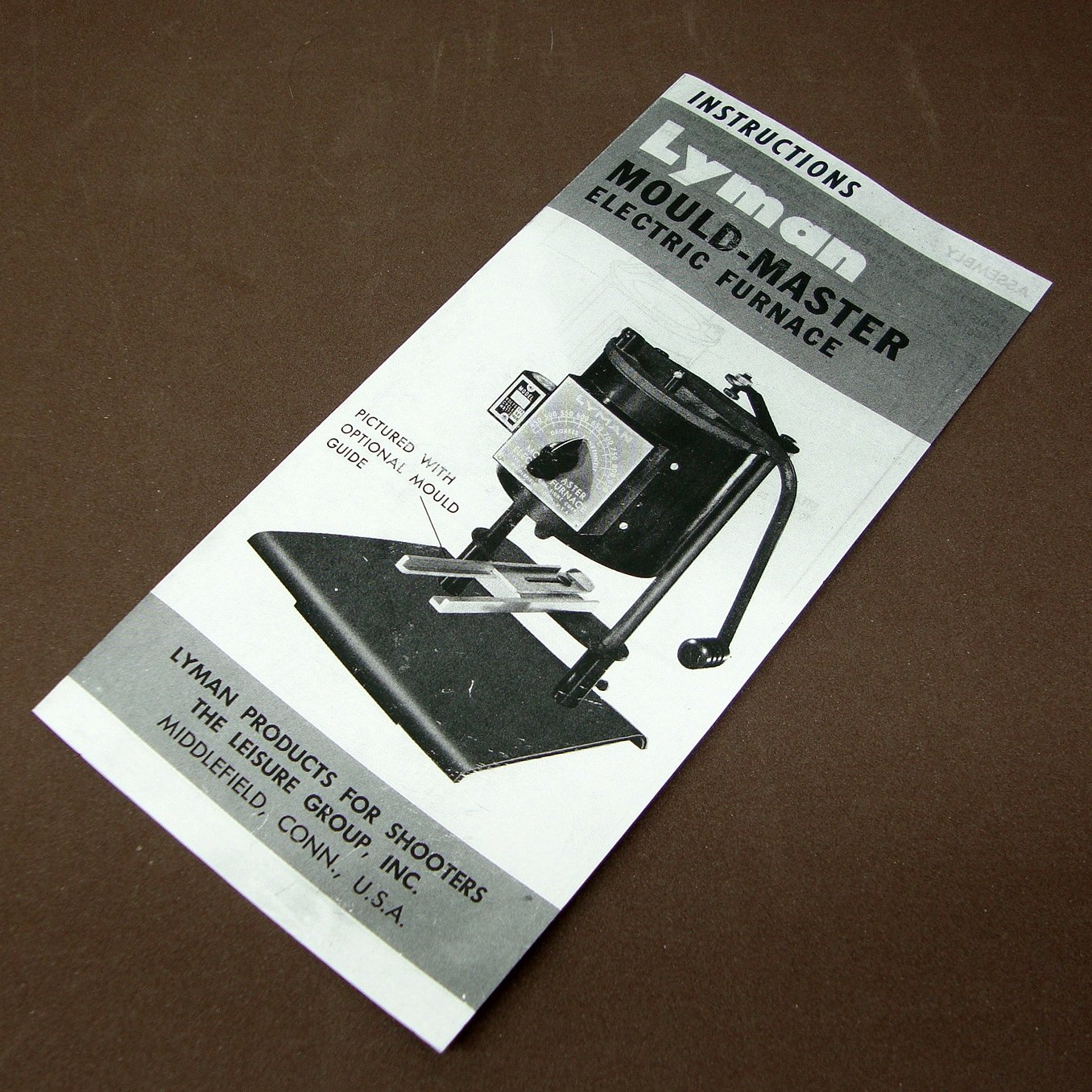 Lyman Mould Master Electric Furnace Instruction Sheet.