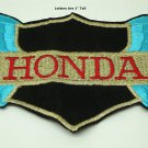 Authentic Honda Motor Cycle Wing Patch 1968-1971 Gold, Black and Turquoise