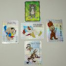 1990s Lot of 5 Mixed Stickers,Porky Pig,Elmer,Foghorn