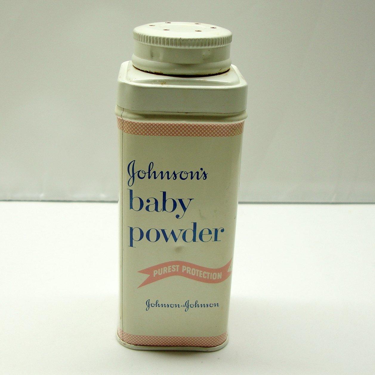 Johnson's Baby Powder 4 Oz Tin, Vintage 1960s - 1970s