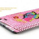 Butterfly Rhinestone Diamond Case Cover For Samsung Galaxy Note i9220 - Pink / Colorful
