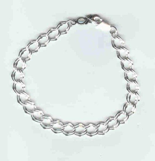 Parellell Link Bracelet, sterling silver