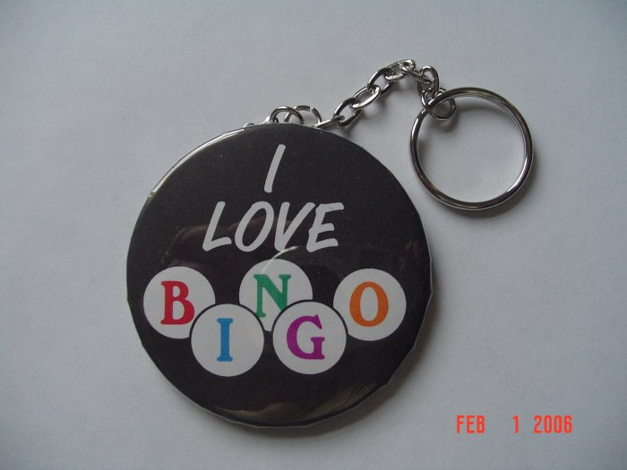 I Love Bingo Bingo Keychain Games Fun Numbers