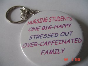 New Handmade Nursing Students One Big Happy Family Keychain